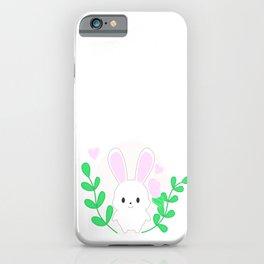White bunny iPhone Case