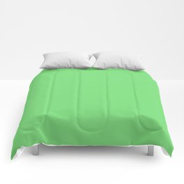 Soft Chalky Pastel Green Solid Color Comforters