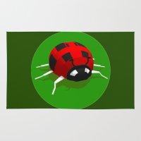 ladybug Area & Throw Rugs featuring LADYBUG by Ken Forst