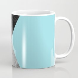 Black and White Marbles and Pantone Island Paradise Color Coffee Mug