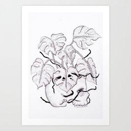 Dead Monstera delicious Art Print