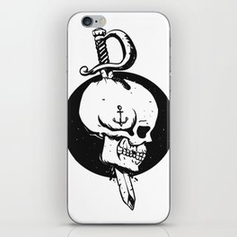 Sailor skull illustration iPhone Skin
