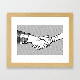 Man and Machine Framed Art Print