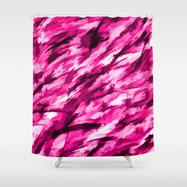 Designer Camo in Hot Pink Shower Curtain