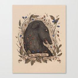 Beware, the Black Shuck Canvas Print