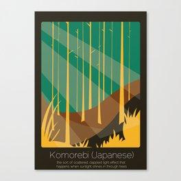 Found In Translation - Komorebi Canvas Print