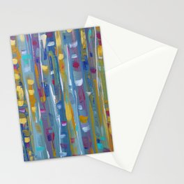Forest Through The Trees, Abstract Aspen Tree Art Stationery Cards