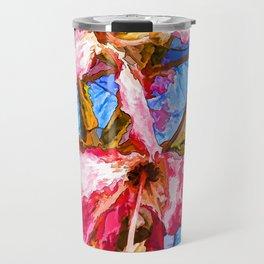 Tropical Flowers Design Travel Mug