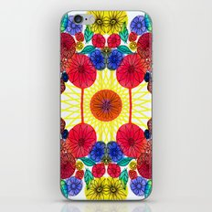 Garden Party - Illustrated flowers and leaves iPhone Skin
