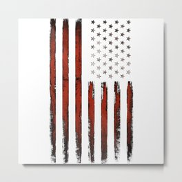 American Stars and Stripes Flag Grunge Metal Print