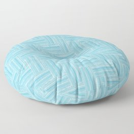 Bamboo Woven Construction Textures in Pacific Blue Floor Pillow