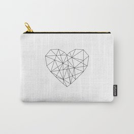 Geometric Abstract Heart Carry-All Pouch
