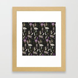 WITCH pattern • in black salt Framed Art Print