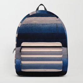 Abstract Horizontal Line Pattern Backpack