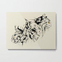 Cats Tattoo Metal Print