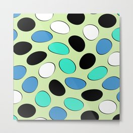 Polka Dotts Colorful Pattern Metal Print