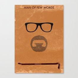 Man of few words Canvas Print