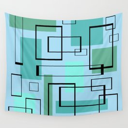 Mid Century Modern Rectangles Wall Tapestry