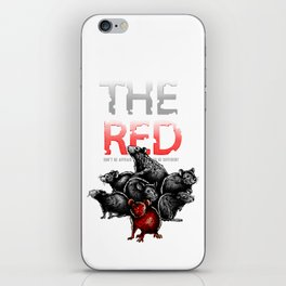 The Red Rat - be different iPhone Skin
