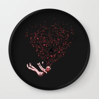 imagine Wall Clocks featuring Imagine by carbine