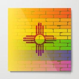 Rainbow Wall New Mexico Metal Print