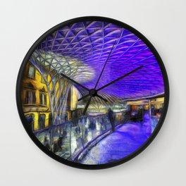 Kings Cross Station London Art Wall Clock