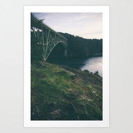 Deception Pass Bridge I Art Print