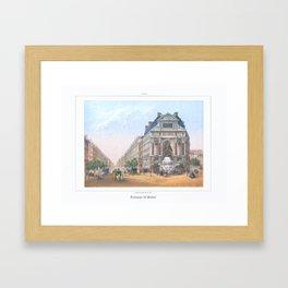 Paris Decor office decoration vintage decor FONTAINE St MICHEL of Paris Framed Art Print