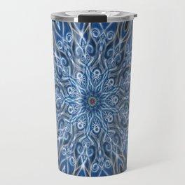 Blue and black Center Swirl Travel Mug