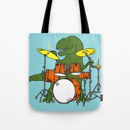 T-Rex Drummer Tote Bag