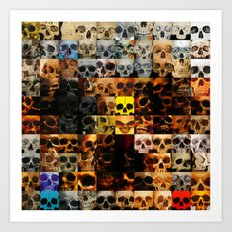 100 Painted Skulls Art Print