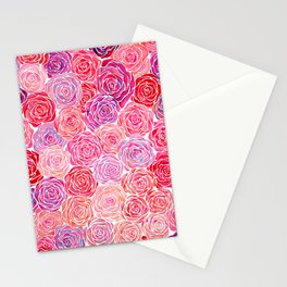 Watercolour Roses Stationery Cards