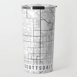 Scottsdale Map, Arizona USA - Black & White Portrait Travel Mug