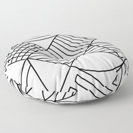 Whackadoodle White and black Floor Pillow