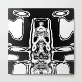 Mono alien Metal Print