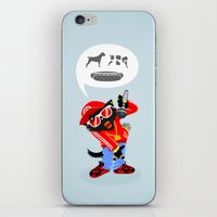 rap iPhone & iPod Skins featuring Cat's rap by Bakal Evgeny