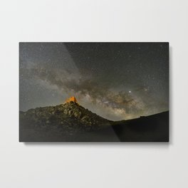Milky way over the old observatory. Sierra Nevada Metal Print