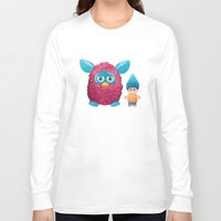90s Long Sleeve T-shirts featuring Sweet 90s by Ana Makes Art