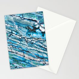Blue Marble with Black Stationery Cards