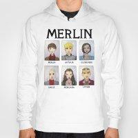 merlin Hoodies featuring MERLIN by Space Bat designs
