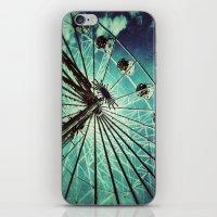 ferris wheel iPhone & iPod Skins featuring Ferris Wheel by Angela Bruno