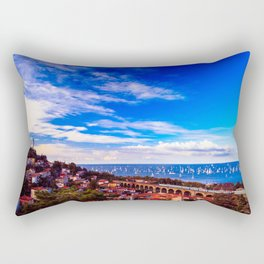 the Barcolana regatta in the gulf of Trieste Rectangular Pillow