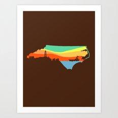 North Carolina Art Print