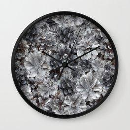 Silver Cones Wall Clock