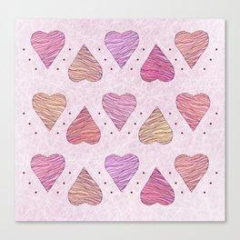 Hearts, love Canvas Print