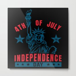 Independence Day 4th July America Metal Print