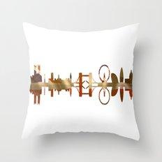 London silhouette. Throw Pillow
