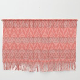 Decorative Leaves in Coral and Pink Wall Hanging