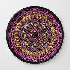 Hippie mandala 45 Wall Clock
