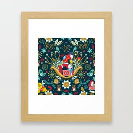 Technological folk art Framed Art Print